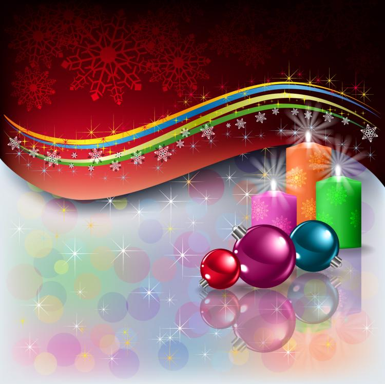 beautiful christmas decoration elements 03 vector free vector