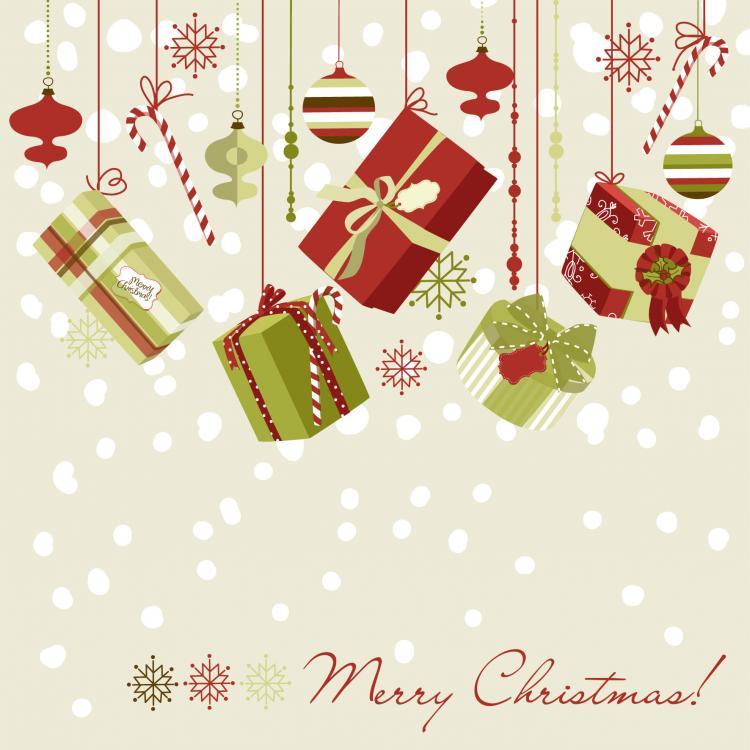 Beautiful christmas design 02 vector free vector