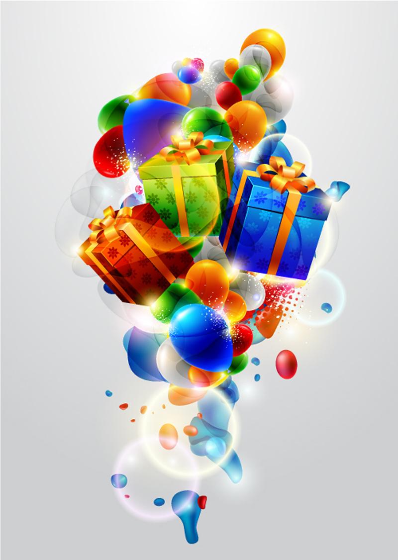 free vector Beautiful christmas gift box 01 vector