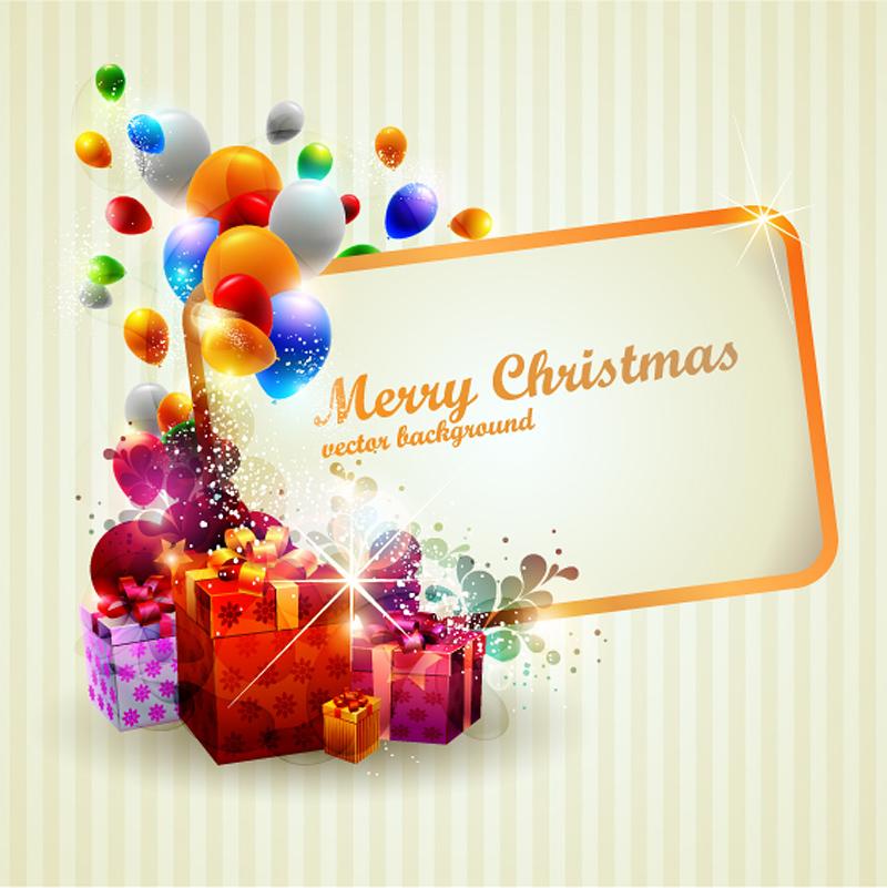 free vector Beautiful christmas gift box 02 vector