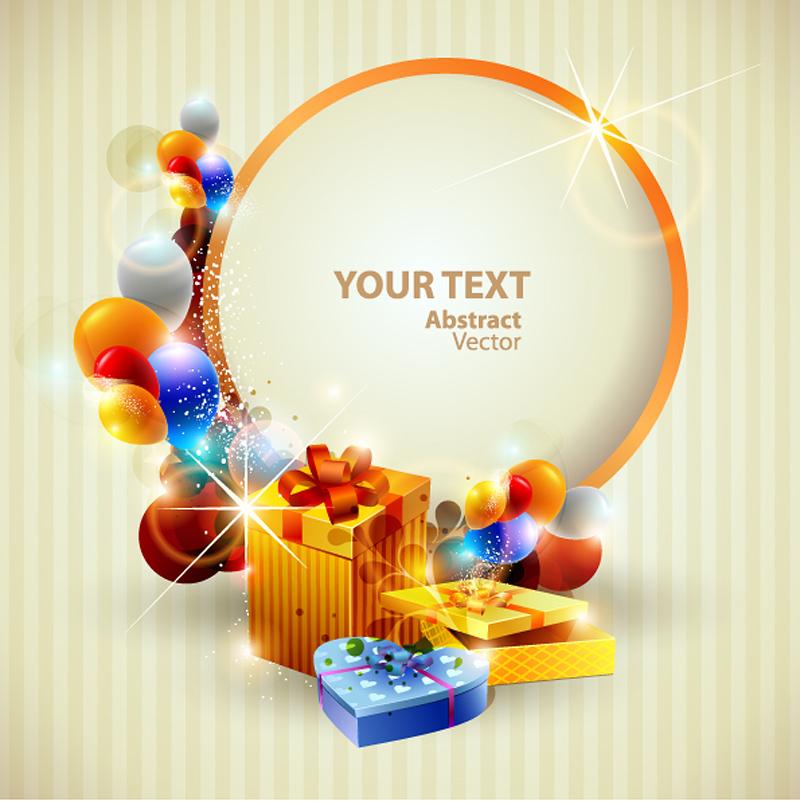 free vector Beautiful christmas gift box 03 vector