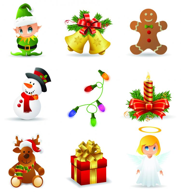 free vector Beautiful christmas icons vector