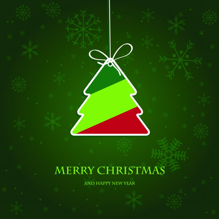 free vector Beautiful christmas label 02 vector