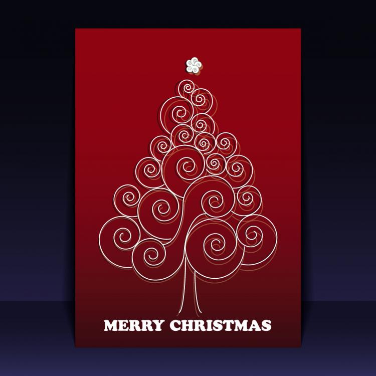 free vector Beautiful christmas leaflets 02 vector