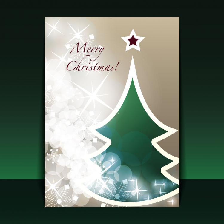 free vector Beautiful christmas leaflets 03 vector