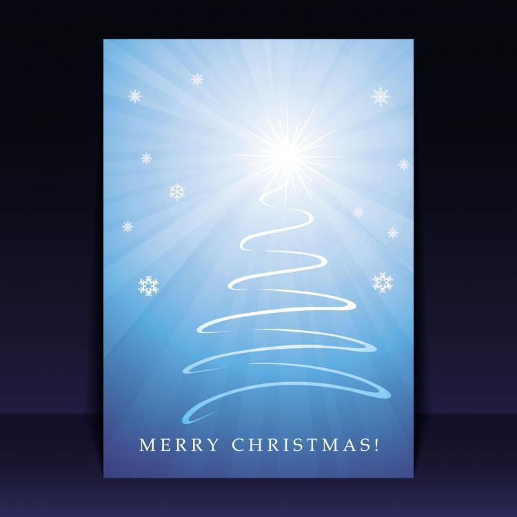 free vector Beautiful christmas leaflets 04 vector