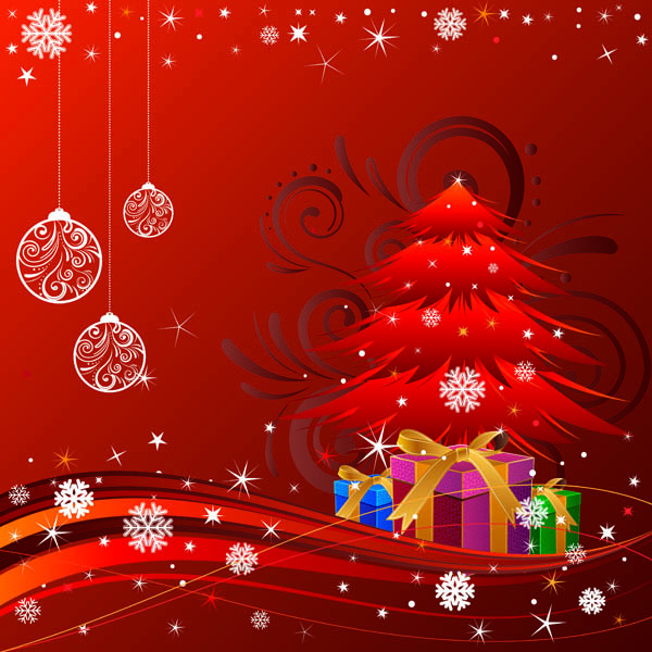 Beautiful Christmas Ornaments beautiful christmas ornaments and background vector free vector