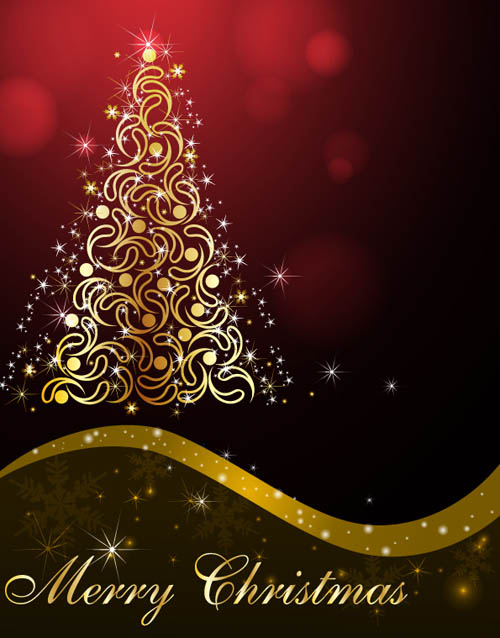free vector Beautiful christmas ornaments background vector