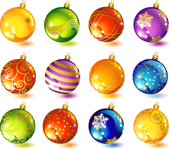 Beautiful Christmas Ornaments beautiful christmas ornaments vector free vector / 4vector
