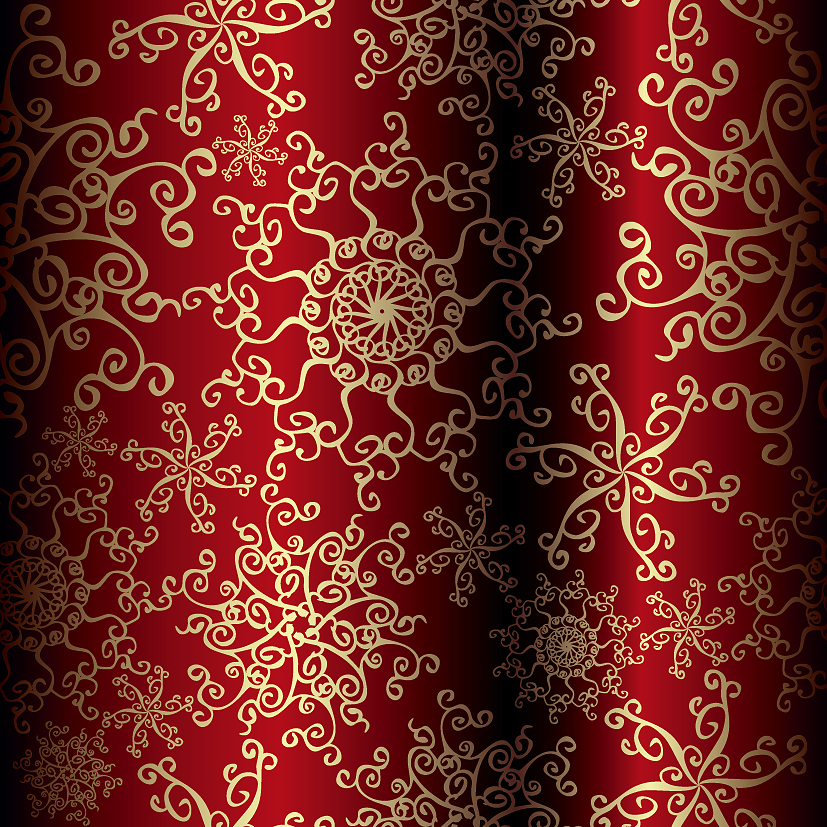 free vector Beautiful christmas pattern vector
