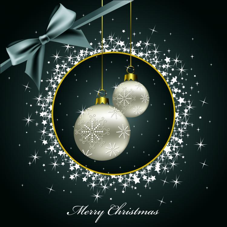 free vector Beautiful christmas postcard ii vector