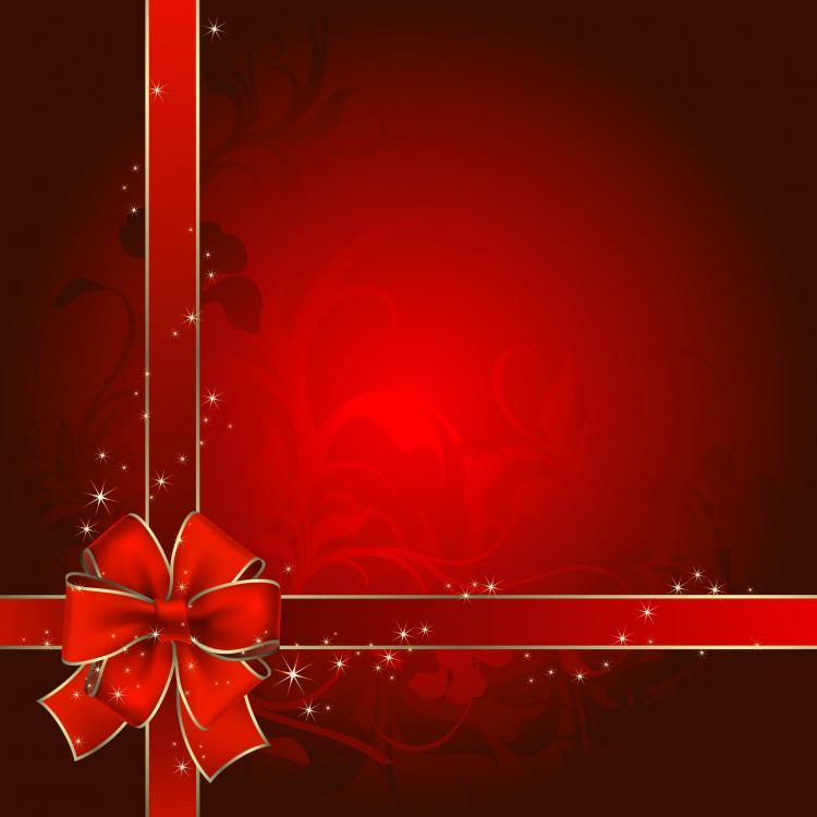 Beautiful christmas postcard ii vector Free Vector / 4Vector