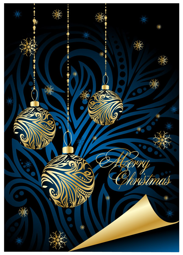Beautiful Christmas Posters Vector Free Vector 4vector