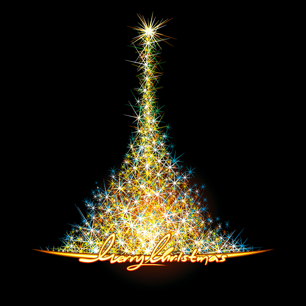 Beautiful christmas tree 24983 free ai download 4 vector - Pretty christmas pictures ...