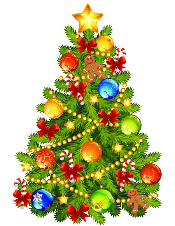 Beautiful Christmas Tree beautiful christmas tree vector free vector / 4vector