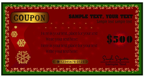 free vector Beautiful christmas voucher vector