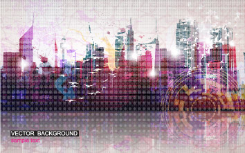 free vector Beautiful city background vector