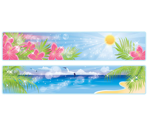 free vector Beautiful coastal scenery 03 vector
