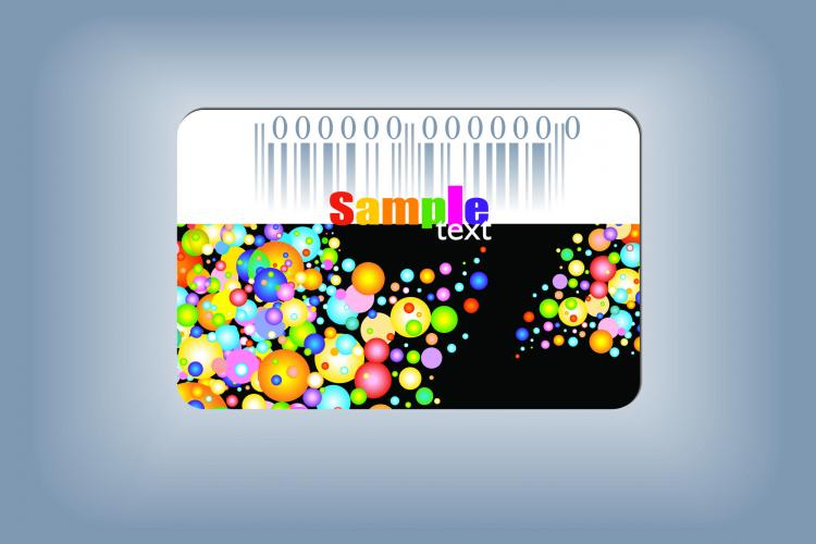 free vector Beautiful color card vector the trend