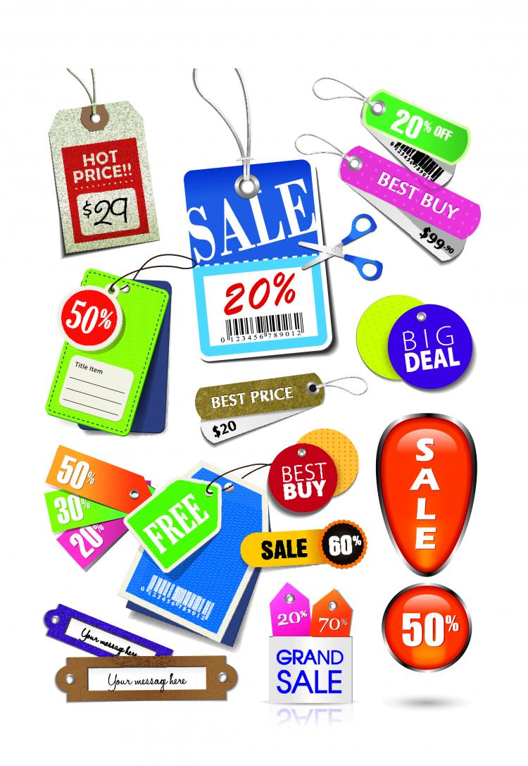 free vector Beautiful color labels 04 vector