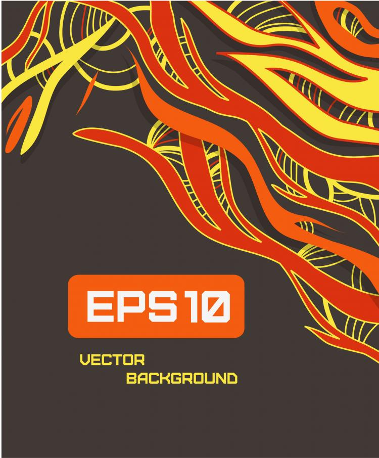 free vector Beautiful color line patterns 05 vector