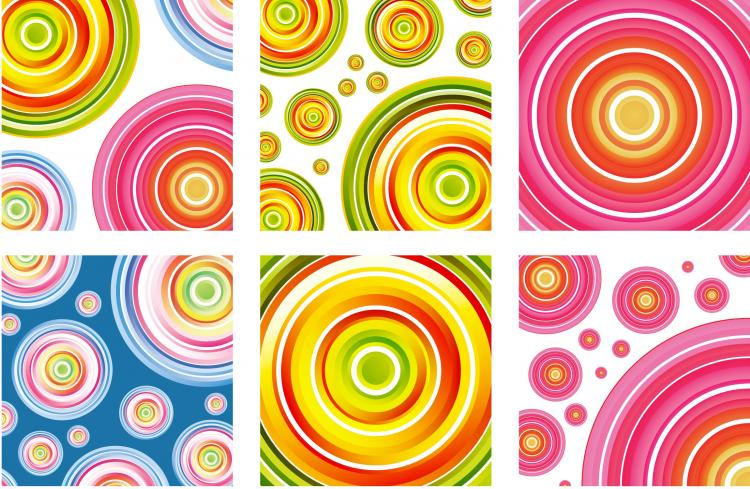 Beautiful Color beautiful color ring vector free vector / 4vector