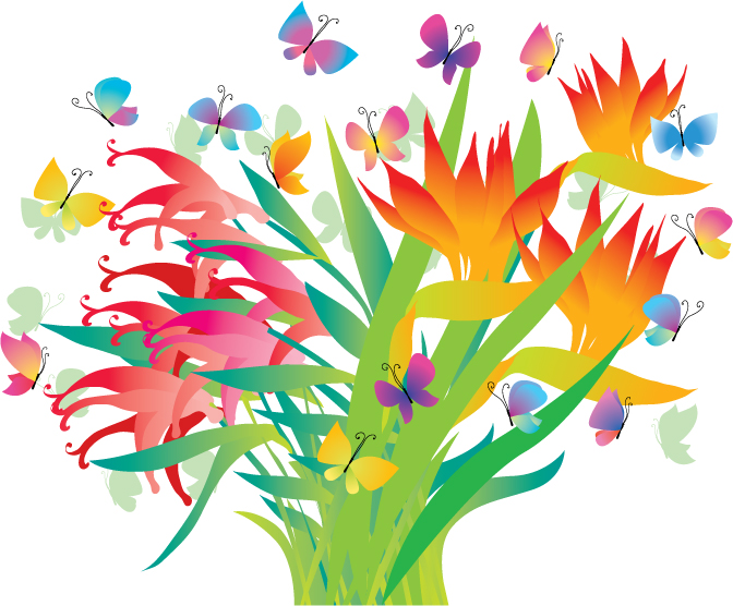 free vector beautiful decorative flowers vector free vector beautiful decorative flowers vector - Decorative Flowers