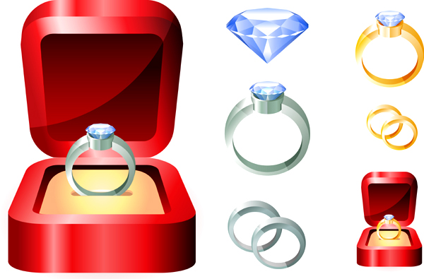 free vector Beautiful Diamond Ring Vector Graphics