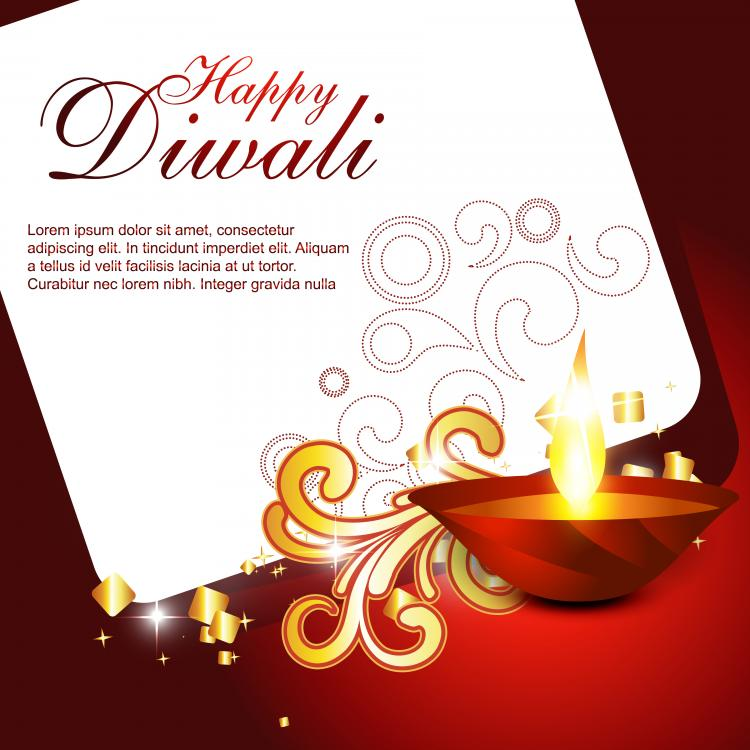 free vector Beautiful diwali cards 06 vector