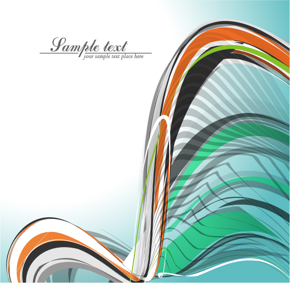 free vector Beautiful dynamic lines of the background vector fashion