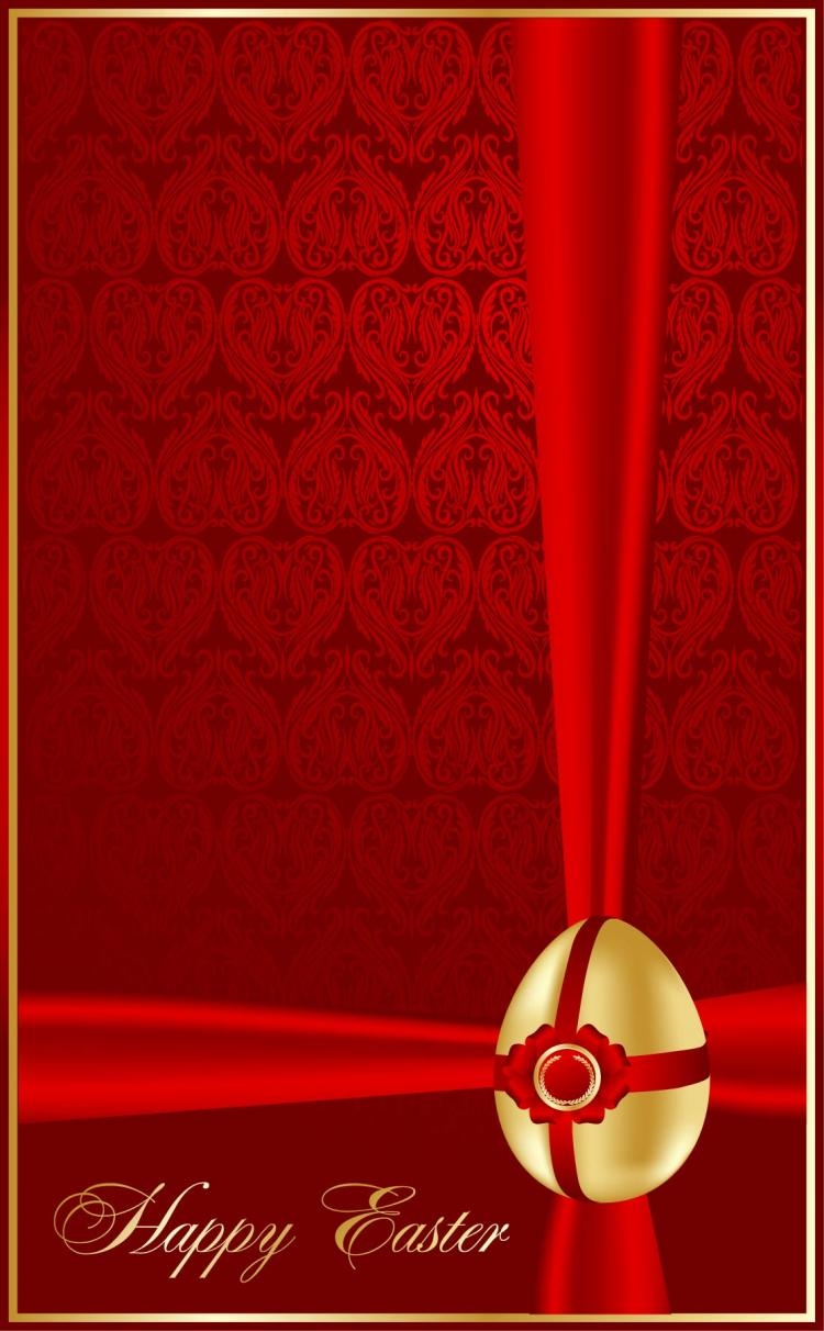 Beautiful easter greeting cards 01 vector Free Vector 4Vector – Easter Greeting Cards