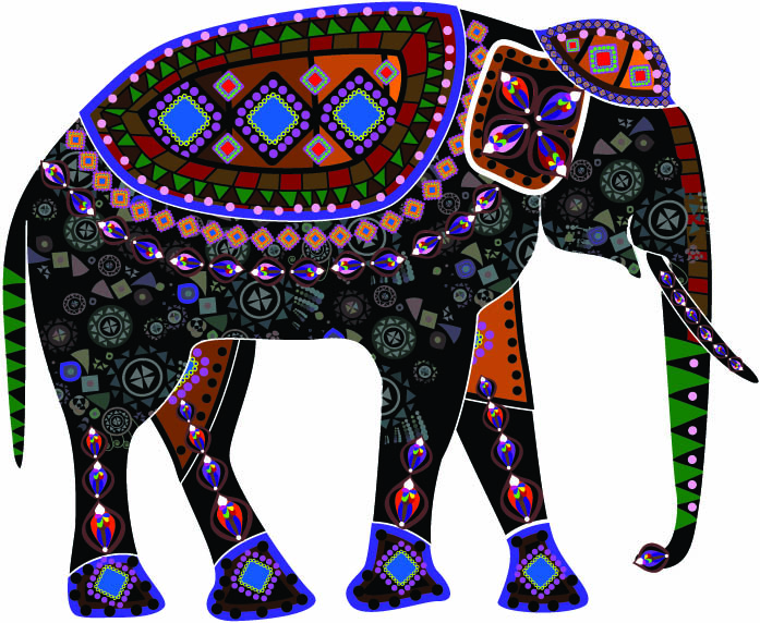 free vector Beautiful ethnic style decoration vector clip art