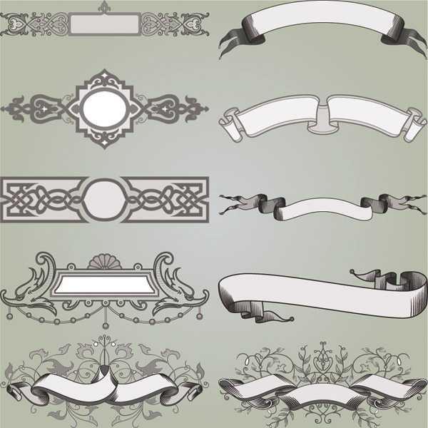 free vector Beautiful europeanstyle border vector