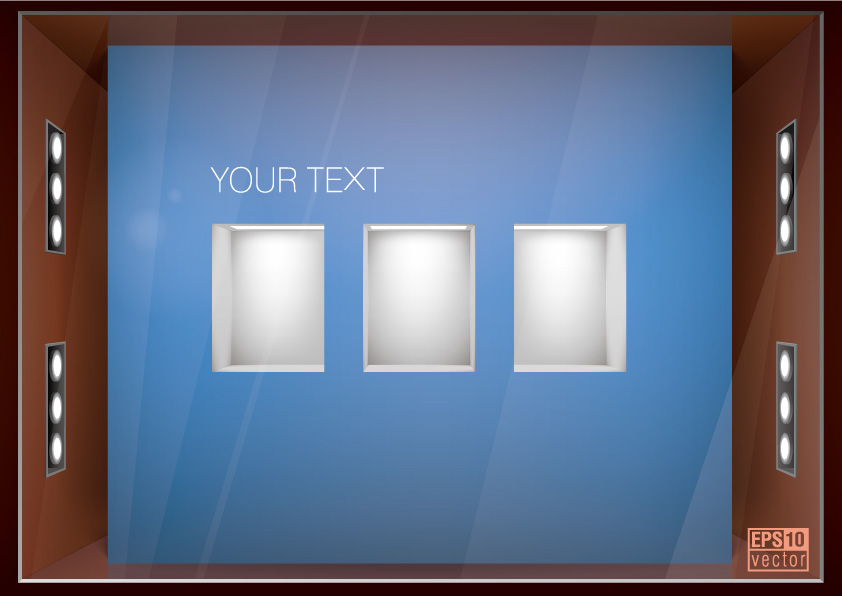 free vector Beautiful exhibition window vector