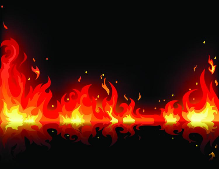 free vector Beautiful flame vector clip 01