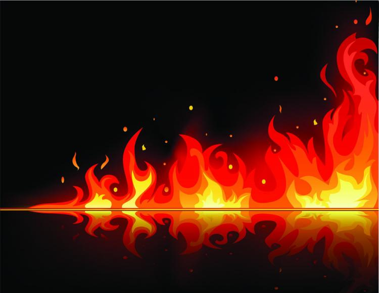 free vector Beautiful flame vector clip 02