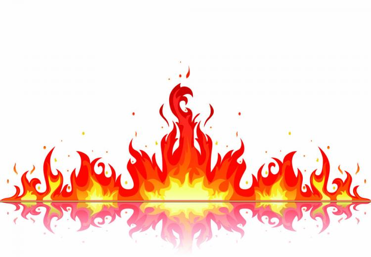 free vector Beautiful flame vector clip 06