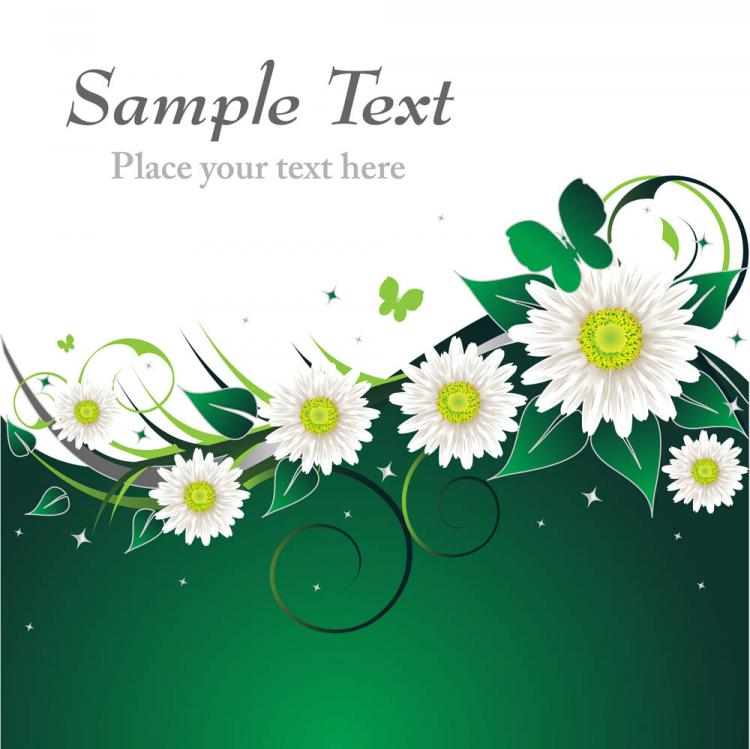 free vector Beautiful floral retro background 02 vector
