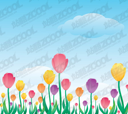 free vector Beautiful flower theme vector illustration