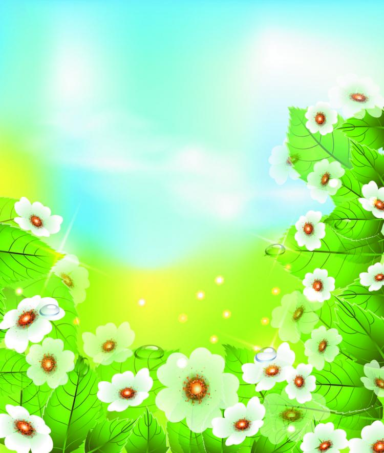 free vector Beautiful flowers 04 vector