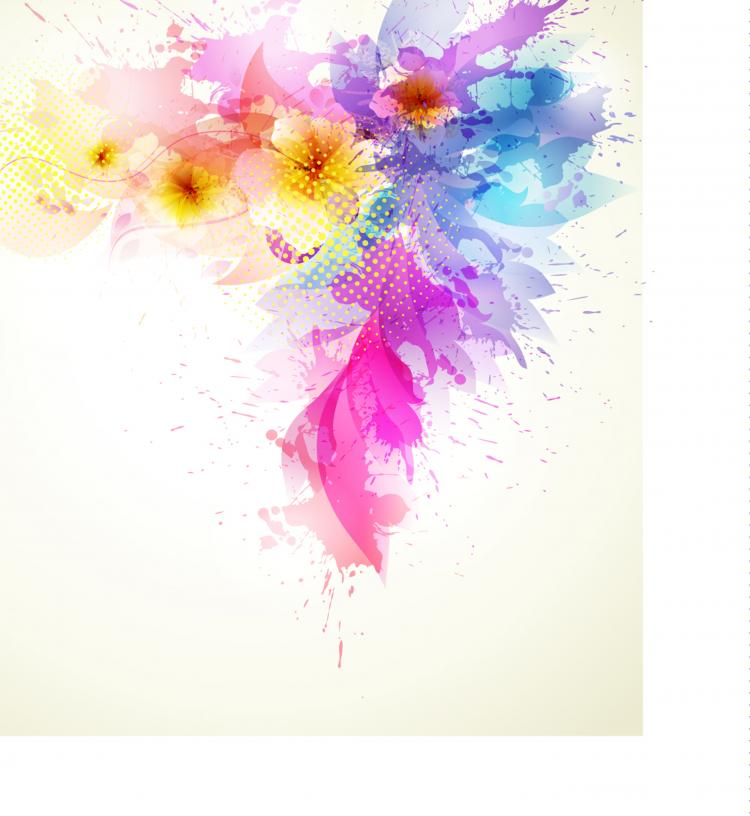 free vector Beautiful flowers background 02 vector