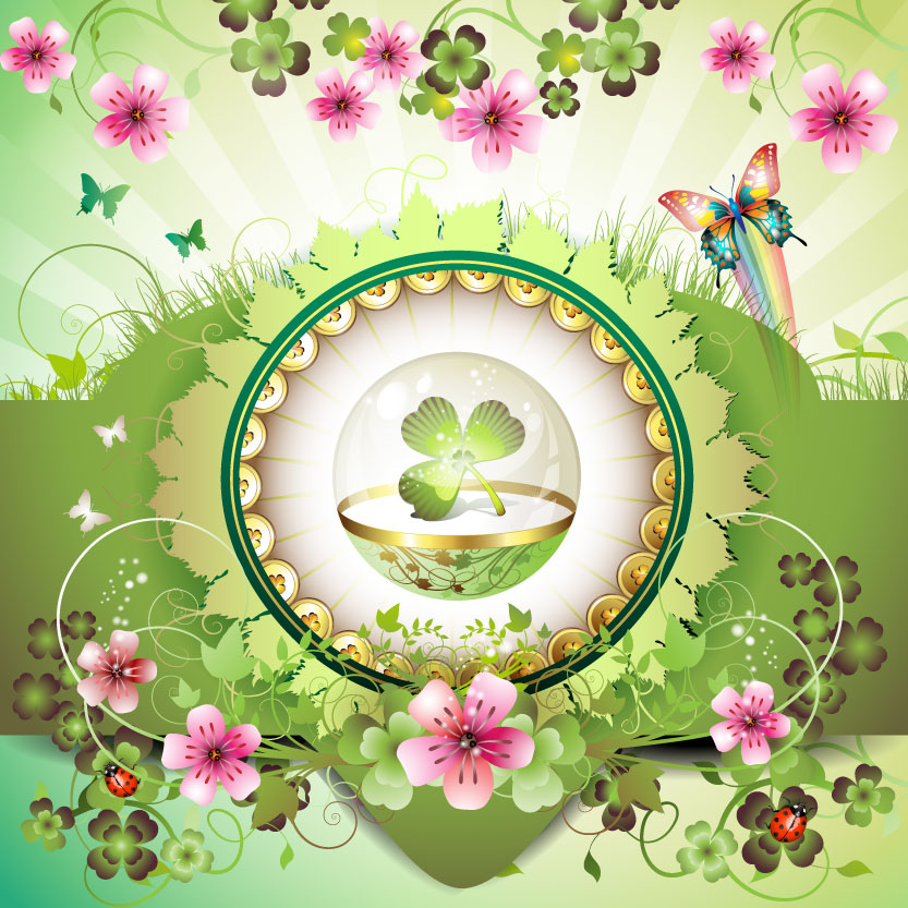free vector Beautiful flowers background 03 vector 20699