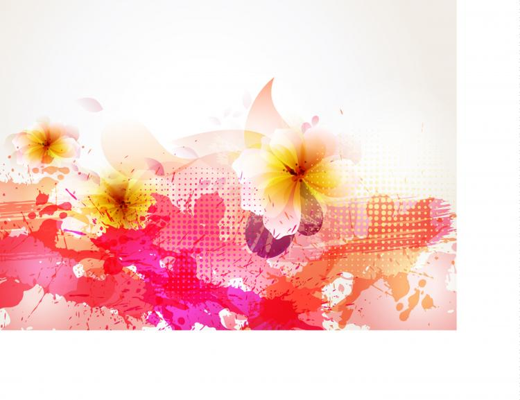 Beautiful flowers background 05 vector Free Vector / 4Vector