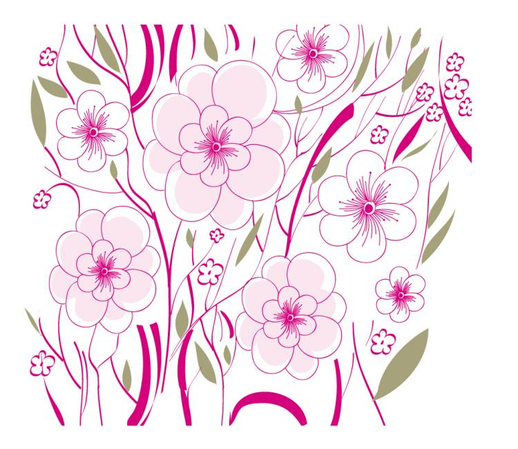 free vector Beautiful flowers background illustration 01 vector