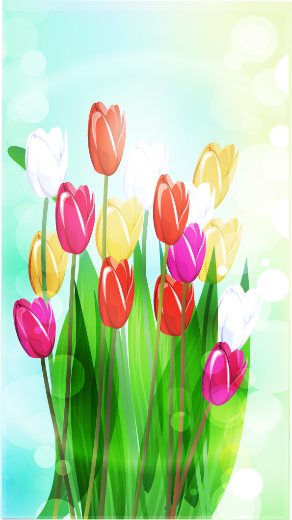 free vector Beautiful flowers vector 4