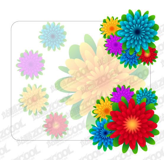free vector Beautiful flowers vector material