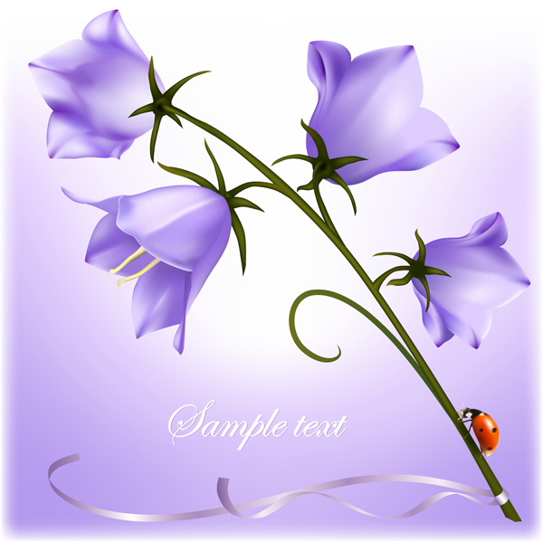 free vector Beautiful flowers vector