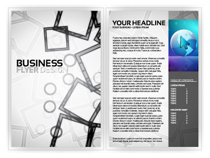 free vector Beautiful flyer plate design 01 vector