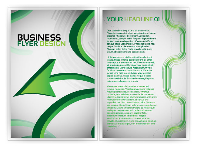 free vector Beautiful flyer plate design 02 vector