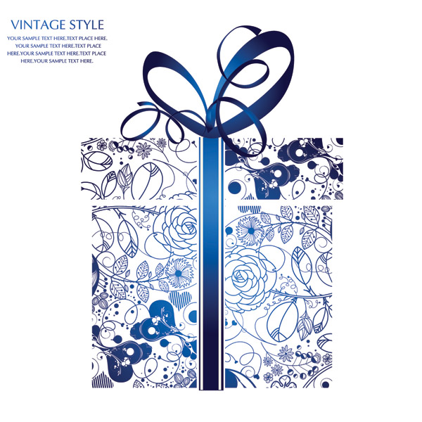 Gift box ribbon free vector white gift box with blue ribbon design beautiful gift box vector free negle Images